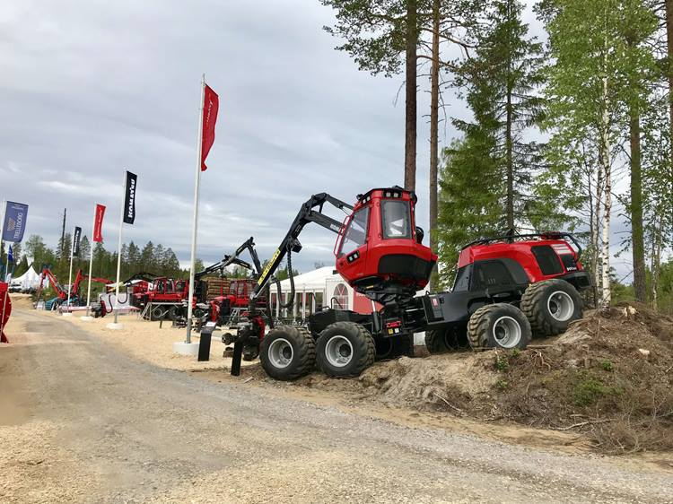 Komatsu Forest's stand at SkogsNolia before the show